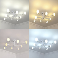 European Hanging LED Light Chandelier For Living room Dining room Kitchen 8 lights Black&White&Gold chandelier lighting