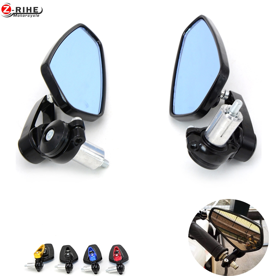 7 8 22mm handle bar Universal Pair Motorcycle Rearview Mirror Handle bar End Side Mirrors For