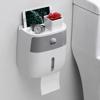 Bathroom tissue box toilet paper holder rack toilet tray free punch waterproof roll paper tube creative tray LO10191146