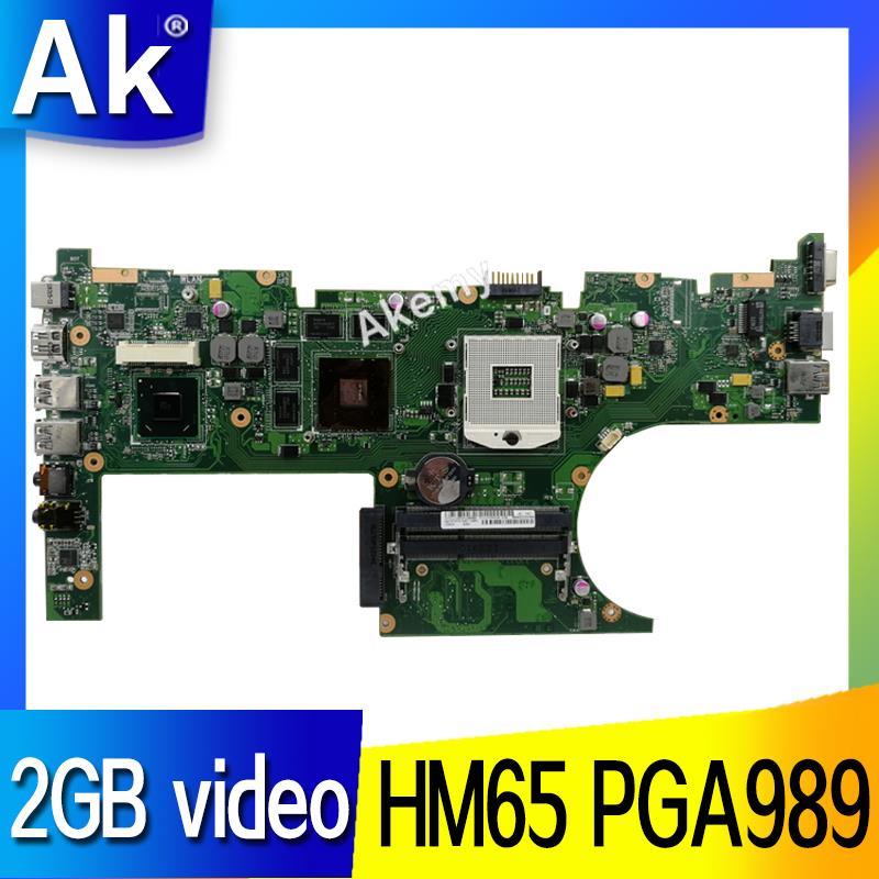 AK U32VM Laptop motherboard for ASUS U32VM U32V U32 Test original mainboard HM65 PGA989 2GB video cardAK U32VM Laptop motherboard for ASUS U32VM U32V U32 Test original mainboard HM65 PGA989 2GB video card