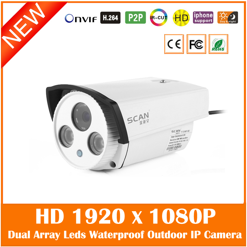 Hd 1080p Bullet Ip Camera Infrared Night Vision Outdoor Waterproof Motion Detection Security Cmos Webcam Freeshipping Hot Sale hot selling outdoor waterproof telecamera ir night vision security camera 2 8 3 6 4 6 8 12mm lens 720p hd ip bullet webcam j569b