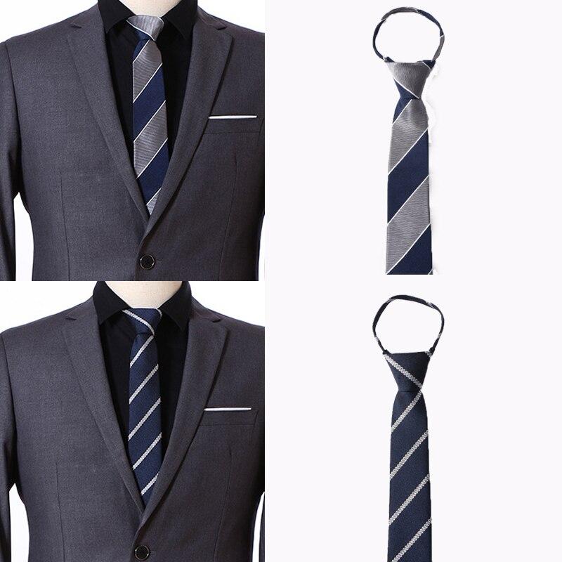 34 Patterns Pre tied Neck Tie Mens Zipper Ties Unisex Striped Dot Slim Narrow Gravatas Bridegroom Party Dress Wedding Necktie in Men 39 s Ties amp Handkerchiefs from Apparel Accessories