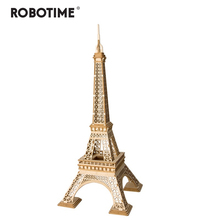 Robotime DIY 3D Wooden Pairs Tower Puzzle Game Gift&Ornament for Children Kid Friend Model Building Kits Popular Toy TG501