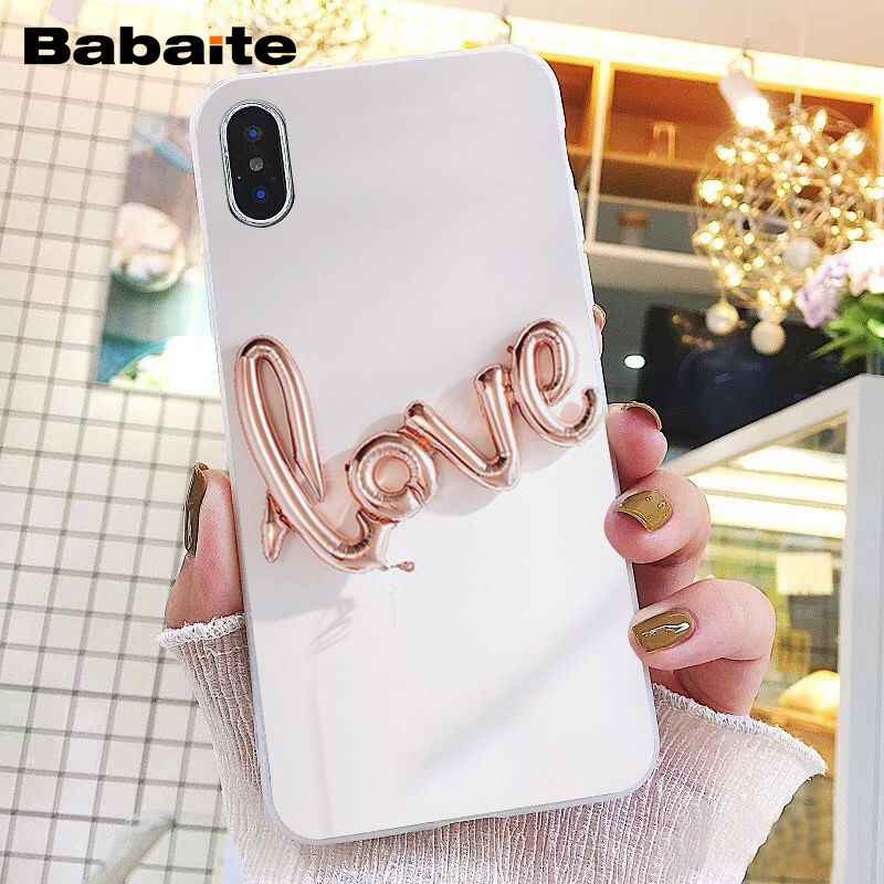 Babaite Gold Rose Love heart Phone Case for iphone 11 Pro 11Pro Max 8 7 6 6S Plus X XS MAX 5 5S SE XR
