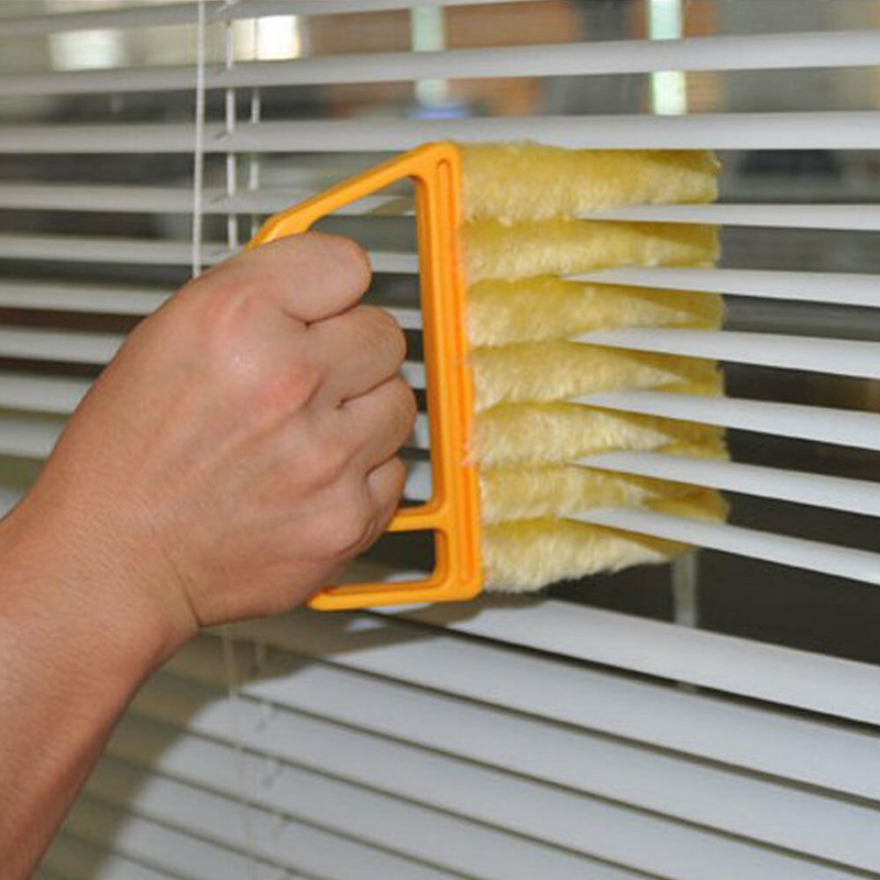Image 4 - 1pc Microfiber Window Cleaning Brush Venetian Blind Brushes Air Conditioner Duster Cleaner  Household Cleaning Tools-in Cleaning Brushes from Home & Garden