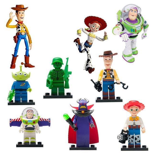 Buzz Lightyear 8pcs/lot movie Toy Story Kid Baby Toy Mini