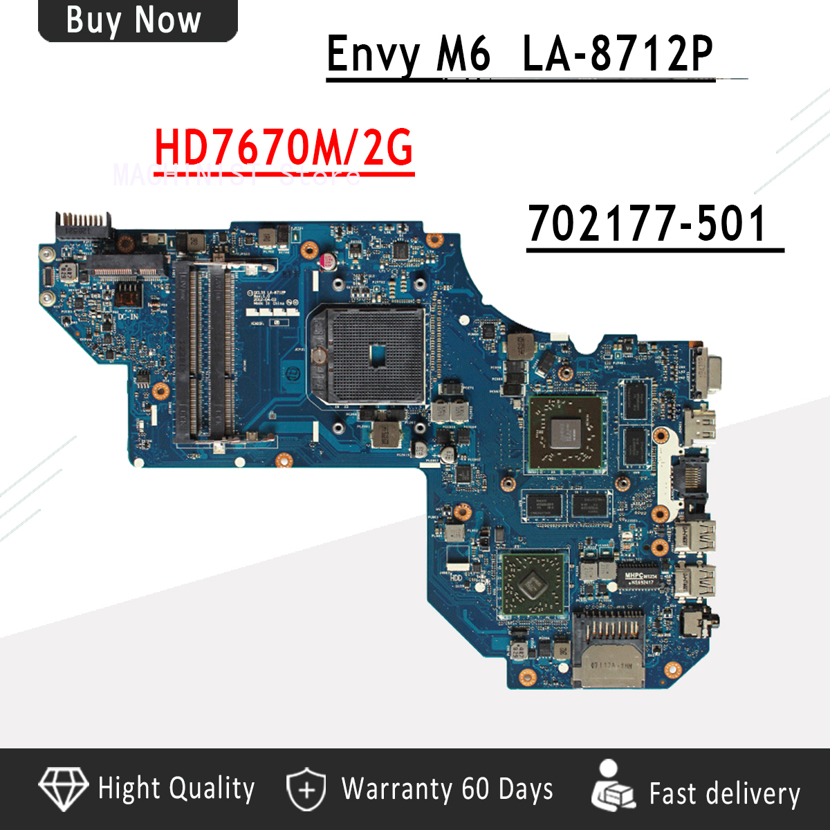For HP pavilion ENVY M6 M6-1000 laptop notebook motherboard QCL51 LA-8712P HD7670M/2G 702177-501 DDR3For HP pavilion ENVY M6 M6-1000 laptop notebook motherboard QCL51 LA-8712P HD7670M/2G 702177-501 DDR3