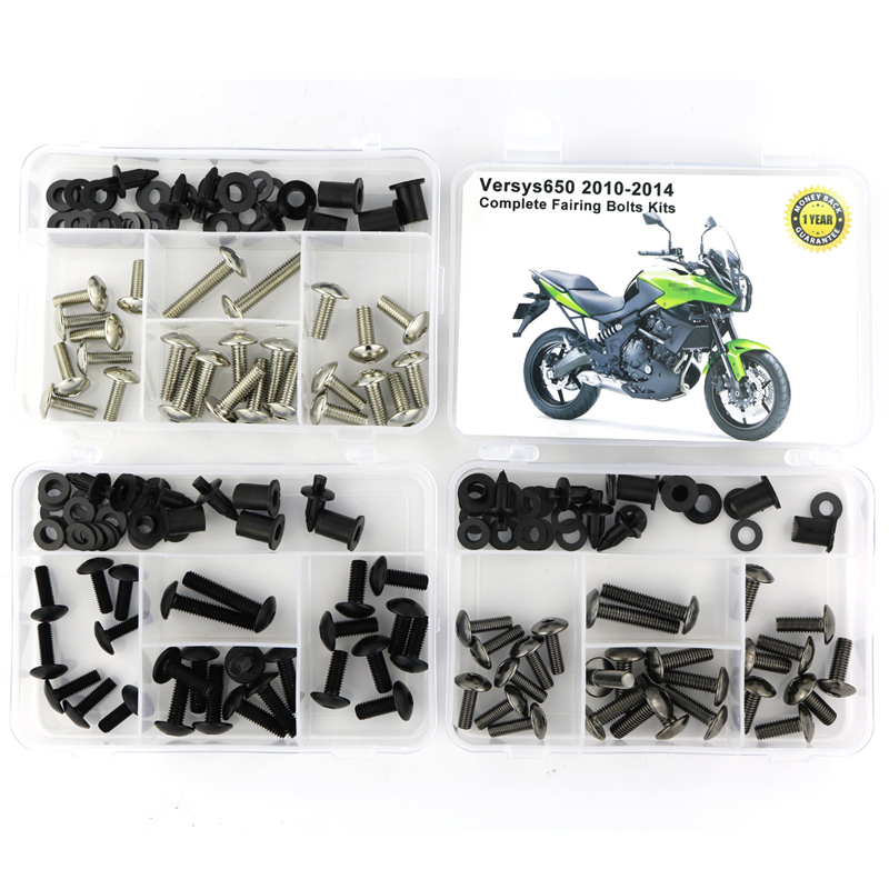 For Kawasaki Versys 650 2010 2011 2012 2013 2014 Complete Fairing Kit Washer Fastener Full Fairing Bolts Kit Screws Nuts Steel