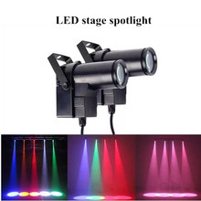 Spotlights Colored Glass Color Music Disco Ball Motor Luces Led Giratorias Stage Effects Light for Car DMX512