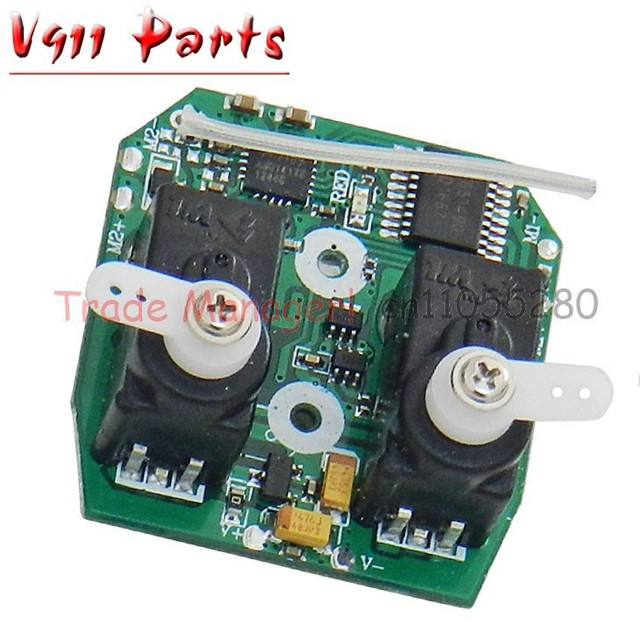 Factory wholesale V911 2.4g Receiver board for wl V911 RC Helicopter Accessories , PCB BOX  v911 Receiver card