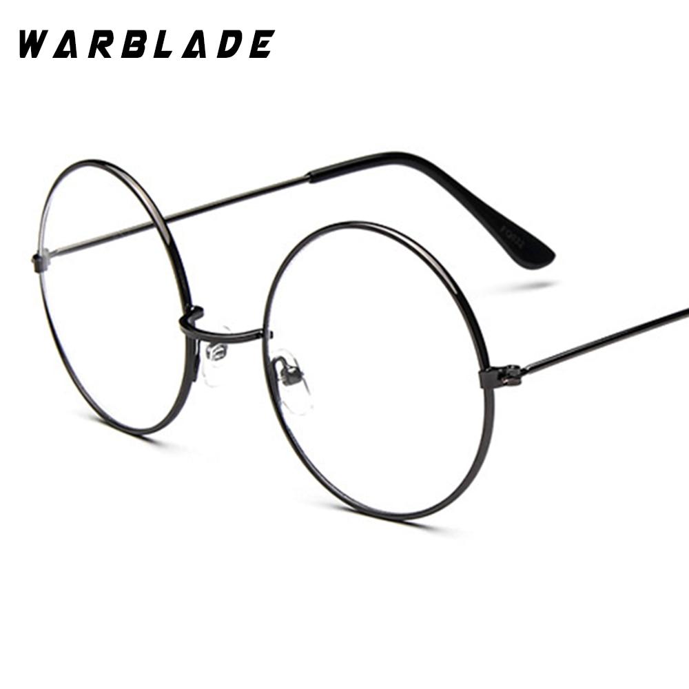 2018 Round Glasses Men Women's Sun Glasses Metal Frame Eyewear vintage Female Optics Eyeglasses Clear Lens Transparent Top