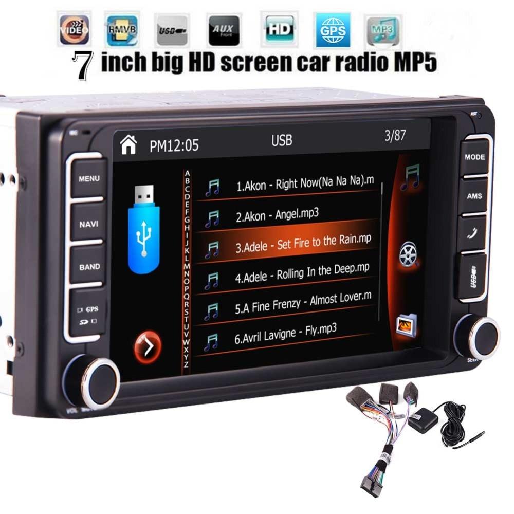 Car Stereo 1080P FM/AM Radio Autoradio Bluetooth Head Unit
