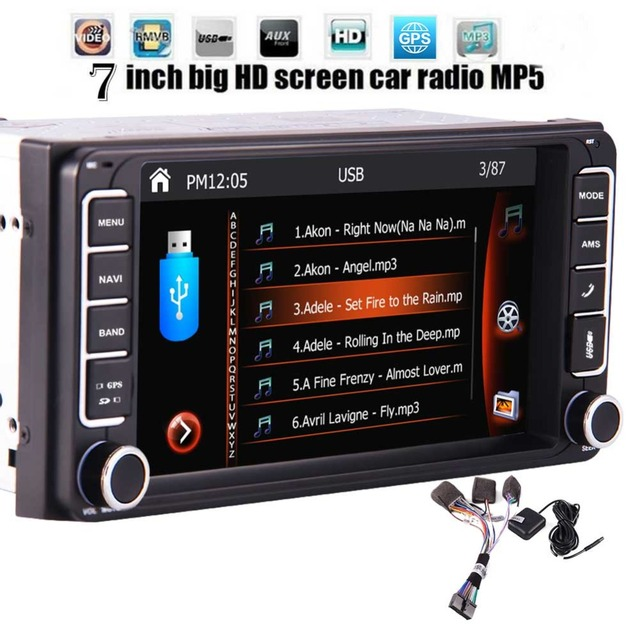 Car Stereo 1080P FM/AM Radio Autoradio Bluetooth Head Unit no DVD 2 din GPS Navigation USB/SD/Subwoofer Rear Cam-in Car Deck Vid
