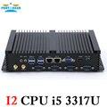 Partaker Безвентиляторный Mini PC Windows 7/8/10 Core i5 3317U Dual nic 4 * RS232 COM промышленной PC Прочный компьютер 300 М Wifi BT HDMI + VGA