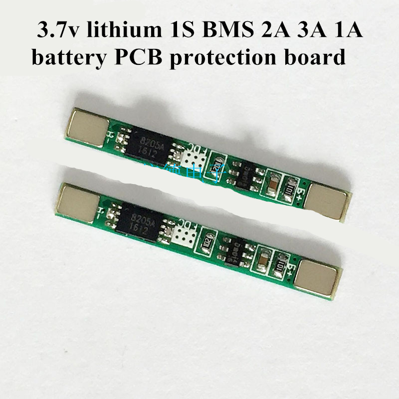 10PCS 1S 2A PCB Li-ion Lithium 3.7V 18650 Battery Input Ouput Protection Board