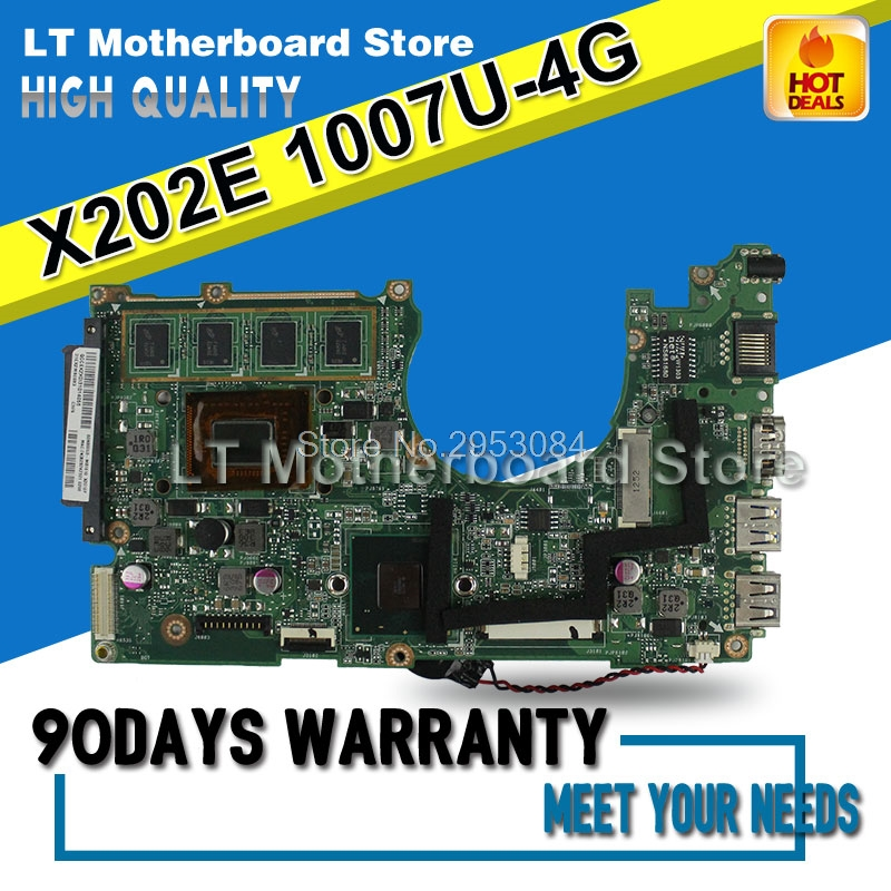 for ASUS X202E Q200E motherboard X201E X202E S200E 1007u 4G USB3.0 REV2.0 HD Graphics Integrated S-4 x202e q200e s200e x201e laptop motherboard mainboard for asus with i3 2365cpu 4g ddr3 1333 mhz tested