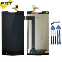 Black For Oukitel K10000 Pro LCD Display Touch Screen 100 Tested LCD Digitizer Glass Replacement For