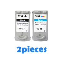 PG 37 CL 38 Ink Cartridges for Canon PG 37 CL 38 PG37 CL38 PIXMA MP140 MP190 MP210 MP220 MP420 IP1800 IP2600 MX300 MX310 printer
