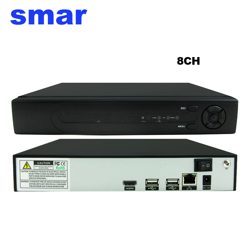 Smar 8CH H.265 CCTV Network Video Recorder System Max 4K Home Security 4CH 5MP 8CH 3MP16CH 960P NVR for IP Camera ONVIF h 265 h 264 4ch 8ch 48v poe ip camera nvr security surveillance cctv system p2p onvif 4 5mp 4 4mp hd network video recorder