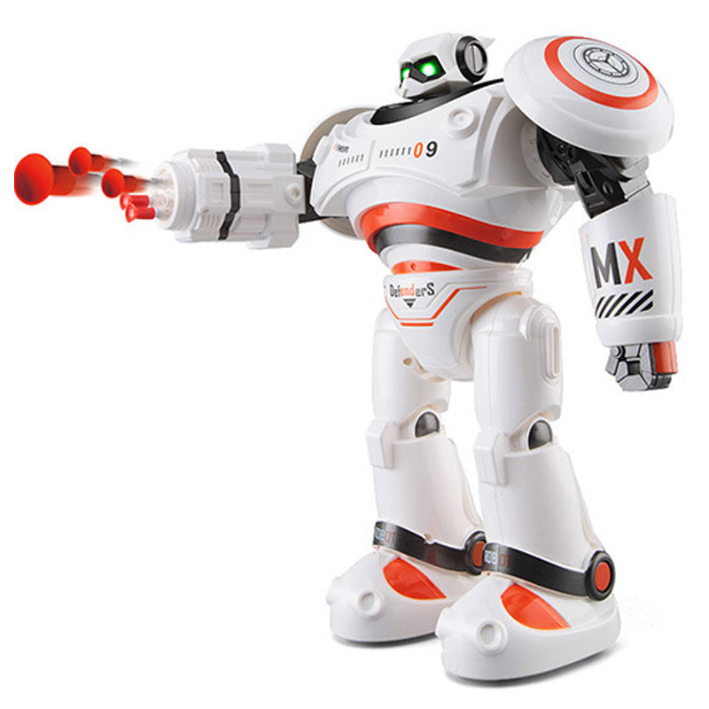 Intelligent Remote Control RC Fire Fighting Robot Boys Toy Defendor Wisdom Flash Charge Singing Dancing Robot Toys Gift Box the best educational toy versatile albott intelligent robot toys dancing singing story multifunction rc fighting toy for gift