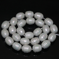 Fashion elegant gray natural shell pearl approx barrel rice shape 12*15mm free shipping loose beads jewelry making 15inch B2271