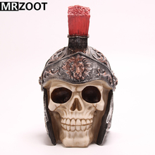 MRZOOT Gothic Punk Resin Crafts General Helmet Home Decoration and Cool Halloween Skull Sculpture Model