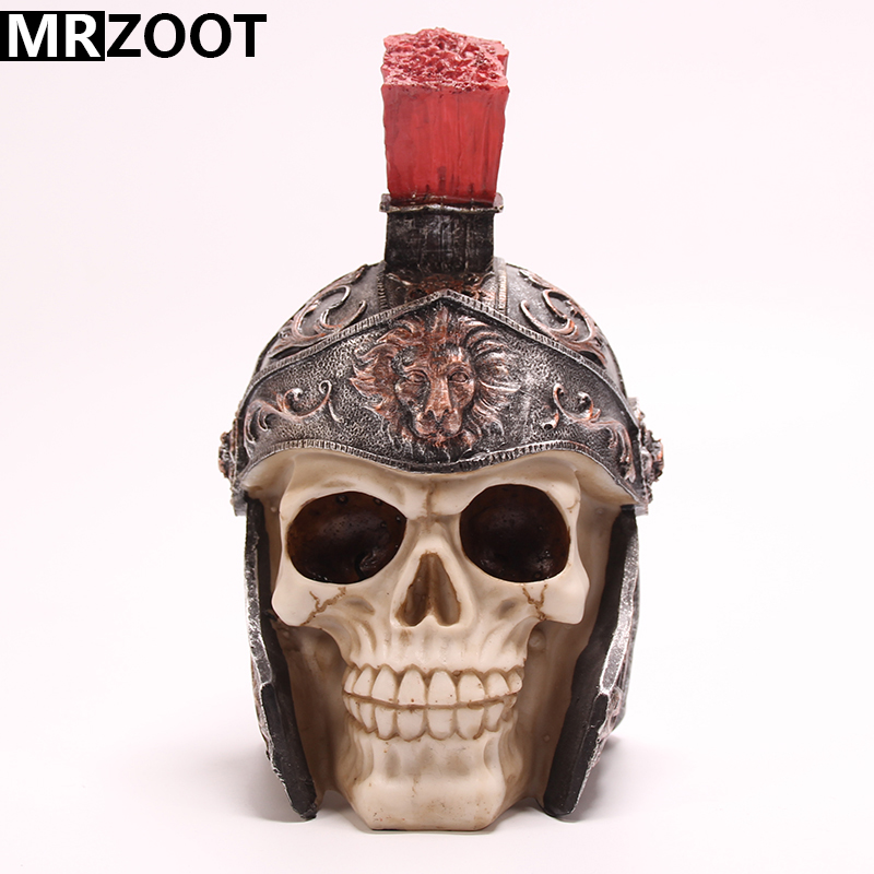 MRZOOT gothic punk resin crafts general helmet home decoration and cool Halloween decoration skull sculpture model
