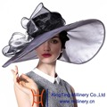 De Joven junio Organza de Moda de Verano Sombrero 100% Sombrero de Organza Astilla de Color negro de Ala Ancha Dom Sombrero Del Desgaste de La Señora de la Boda sombreros