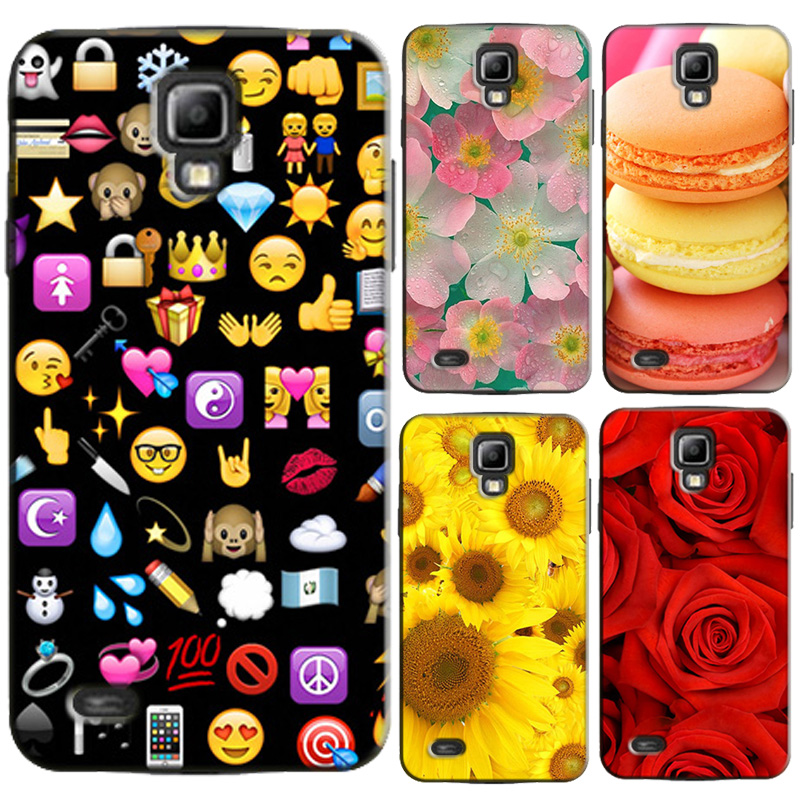 for Samsung Galaxy S4 Mini Plastic Capa Case for Samsung Galaxy S 4 Mini I9190 Back Cover Protector Bags Print Flower Series
