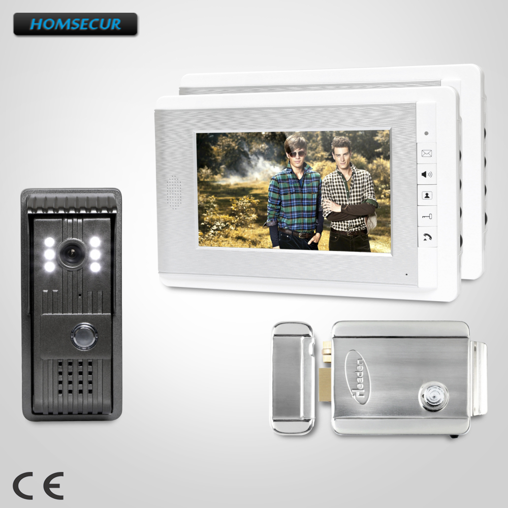 HOMSECUR 7inch Wired Video Door Entry Security Intercom with Intra-monitor Audio Intercom  : XC003+XM708-SHOMSECUR 7inch Wired Video Door Entry Security Intercom with Intra-monitor Audio Intercom  : XC003+XM708-S