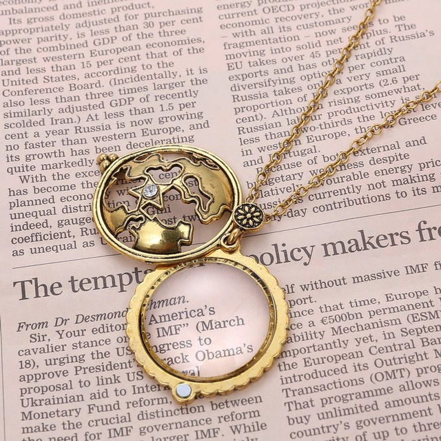 Magnifying glass pendant necklace aloadofball Images