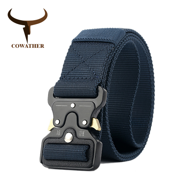 COWATHER luxury nylon belt newest men belts military outdoor tactical male waistband jeans