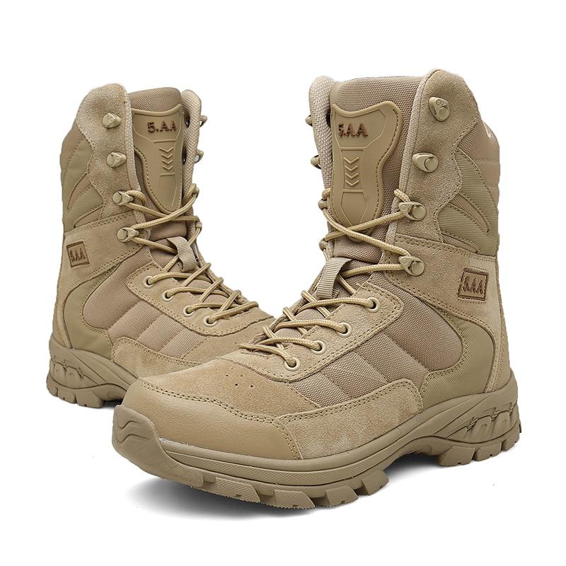 Marque Hommes de Bottes botte Militaire Tactique Grande Taille Armée Bot Mâle Chaussures Combat Sécurité Hommes Chukka Cheville Bot Moto bottes 8809