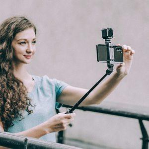 Image 5 - PGYTECH Vlog Telefono Palo di Estensione Più Il Bastone Selfie Treppiede Telefono MountFor Smartphone Iphone Android Vlog Set Telefono Vlogging Kit