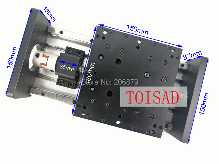 GX150 1605 Ballscrew 400mm Effective Travel Rail Linear Guide Moving Table Slide Module Motion Without Motor