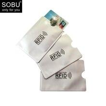 1 шт. новый алюминиевый Анти Rfid считыватель блокирование Банк Кредит держателя карты защиты новый Rfid Card Reader металлический кредитной карты держатель H039