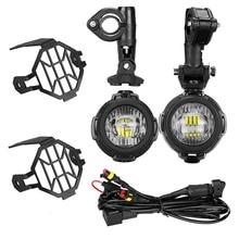 Черные мотоциклетные светодиодный фонарь для BMW R1200GS/adv/F800GS/F700GS/F650FS 40 Вт 6000 К пятно вождения Туман лампы