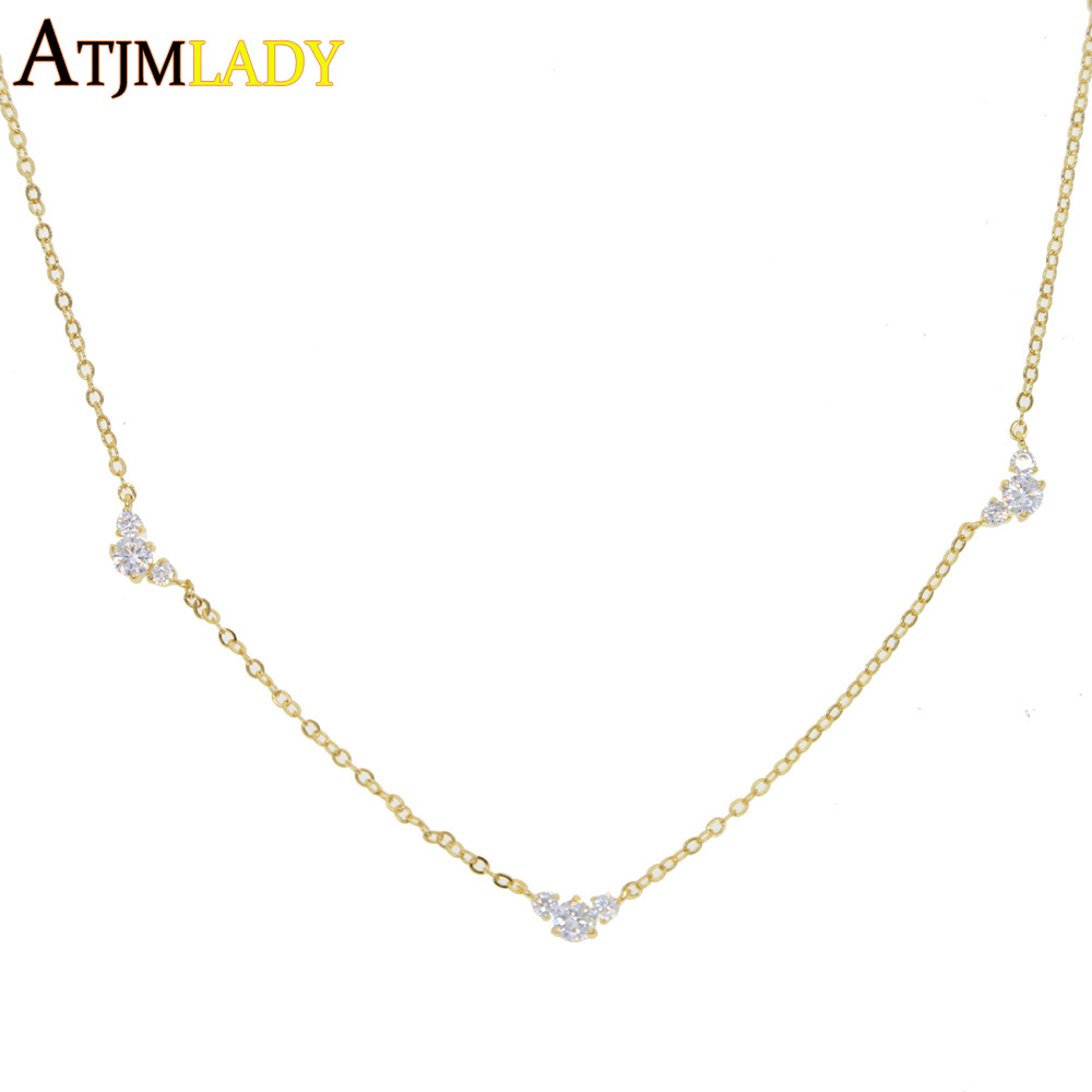 gold amiga empresa simple producto necklace