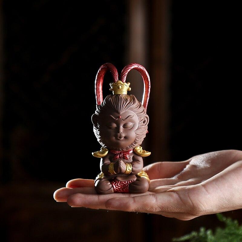 Monkey King Statue Home Decoration Handmade Yixing Zisha