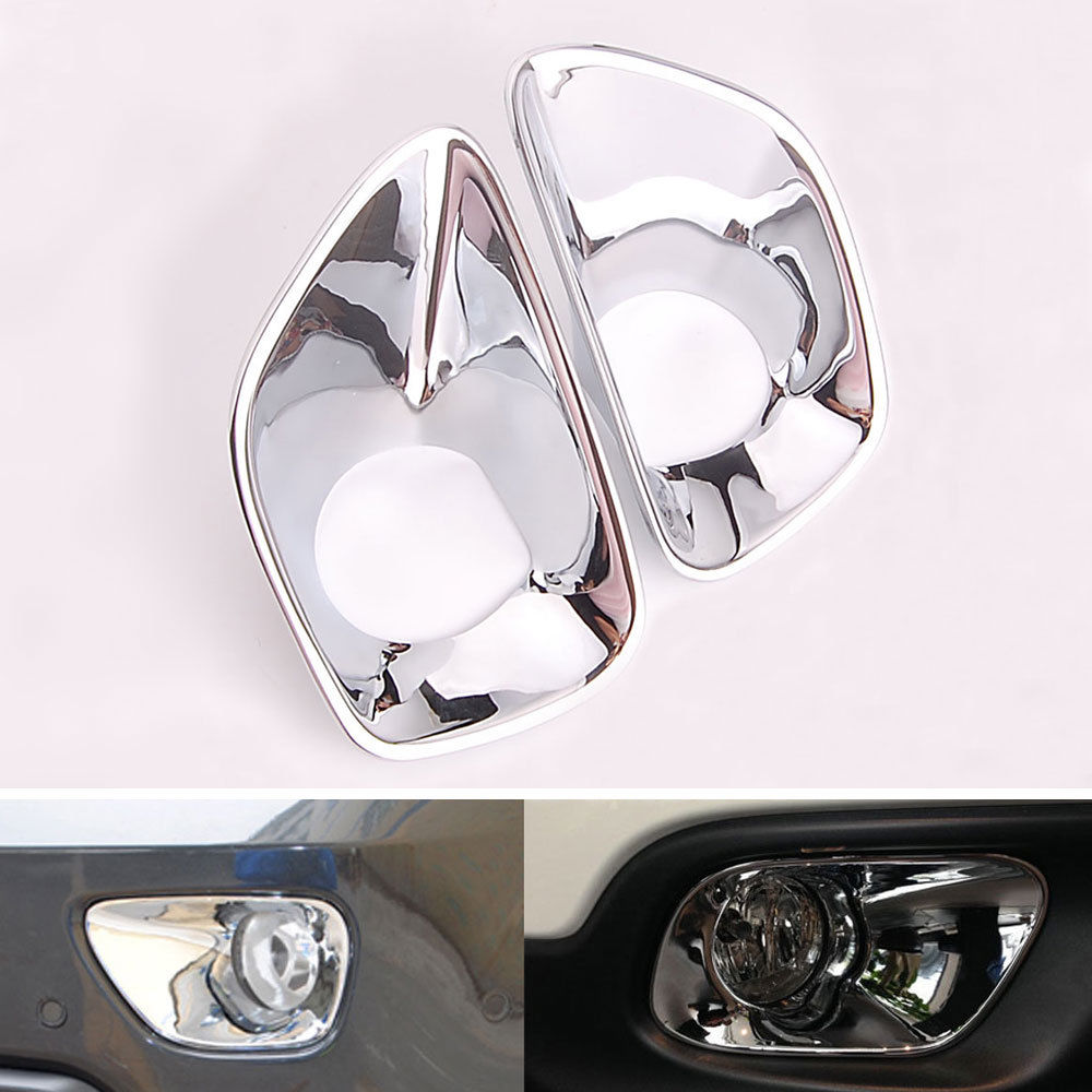 BARBECUE @ FUKA 2 Pcs Chrome ABS Auto Phares Antibrouillard Avant Couverture Garniture Voiture Styling Accessoires Fit pour Jeep Grand Cherokee 2011-2013