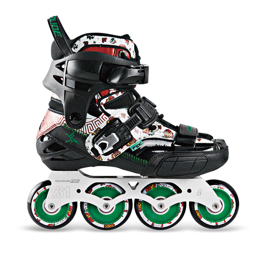 2018 Limited POWERSLIDE S4 Professional Slalom Skates Adult Roller Skating Shoes Sliding Free Skating Patines Inline Skates Japy цена