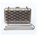 Мода женщин сумки металла сверкающих цепь сумка дамы золото серебро день муфты ну вечеринку вечерние сумки кошельки 936 т