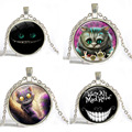 Gem necklace Alice in Wonderland cat time Europe and vintage necklaces wholesale factory direct