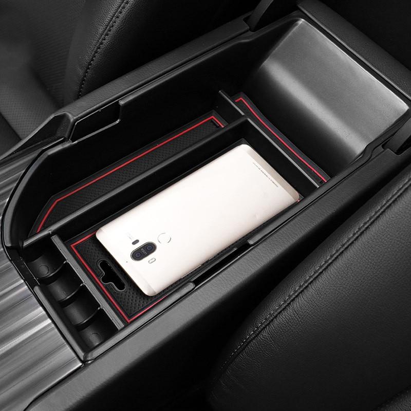 Only fit Left Hand Drive Car! 1PCS Plastic Central Armrest Storage Box Organizer Case Co ...