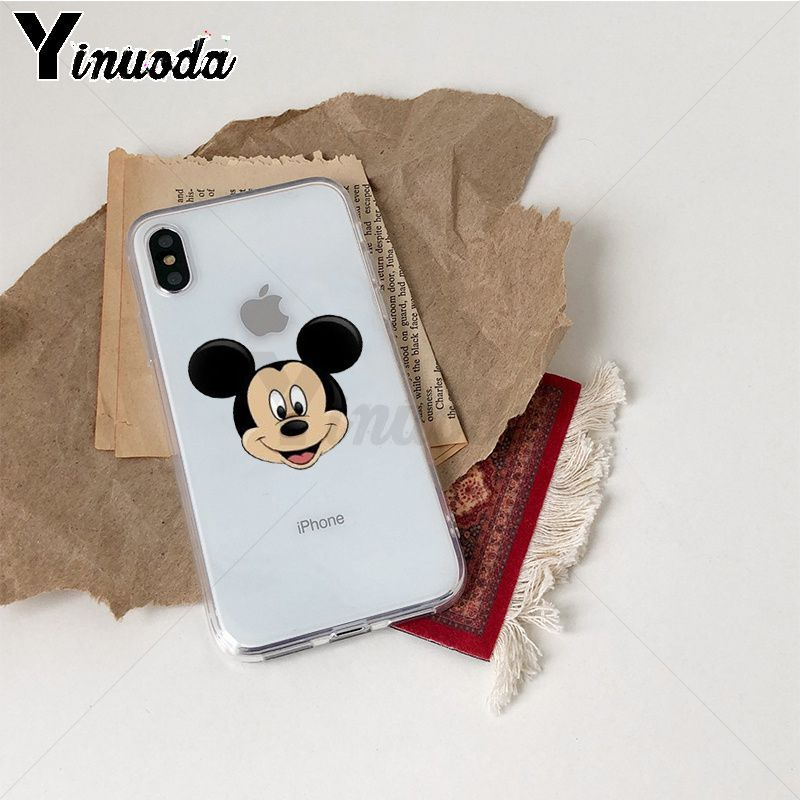 Image 4 - Yinuoda Cute Mickey Mouse TPU Phone Case Cover Shell for iPhone X Xs Xr XsMax 10 7 7plus 8 8plus 6 6s 5 5S SE 5C-in Half-wrapped Cases from Cellphones & Telecommunications