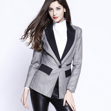 Women Autumn One Button Business Suit Blazers, Ol Slim blazer jackets