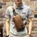 Novo Design Homem de Couro PU Saco Do Mensageiro Saco Marrom bolsa de Viagem No Peito Pequeno Saco Crossbody Bolsa de Ombro Casual Para Homens Mulheres