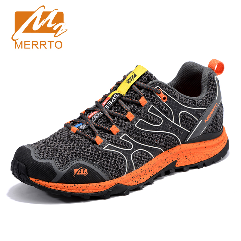 2018 Merrto Mens Breathable Mesh Trail Running Shoes Light Weight Outdoor Sports Shoes Travel Shoes Free Shipping MT18678