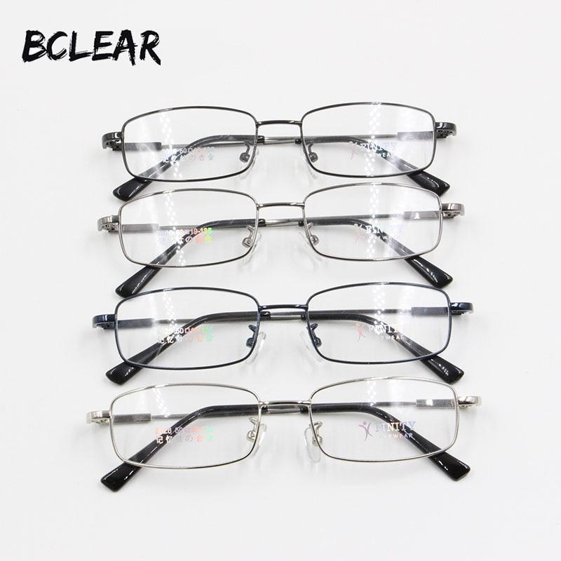 BCLEAR الاسترخاء الذاكرة التيتانيوم الإطار البصري الرجال شعبية كلاسيكي صغير الوجه الكامل حافة النظارات الطبية النظارات الرخيصة إطارات