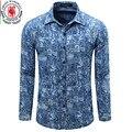 Europa Tamanho Camisa de Brim dos homens Novos Camisas de Vestido Camisa Masculina Longa manga Mens Camisa Jean Clássico Moda Casual Camisa Plus Size Tops 081